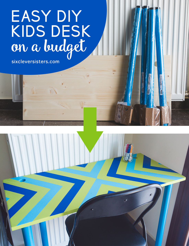DIY Kids Desk Ideas  Easy DIY Kids Desk on a bud  Six Clever Sisters
