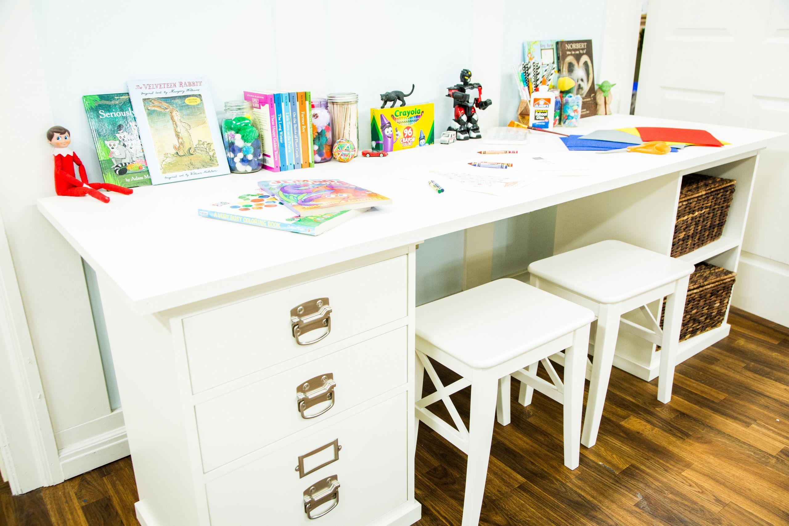 DIY Kids Desk Ideas  DIY Kids Craft Table Home & Family