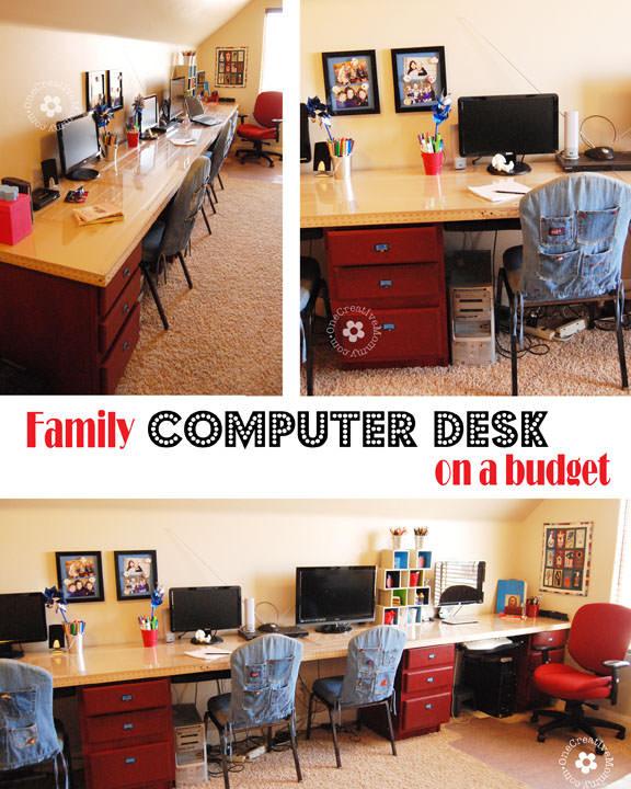 DIY Kids Desk Ideas  DIY Kids puter Desk Station onecreativemommy