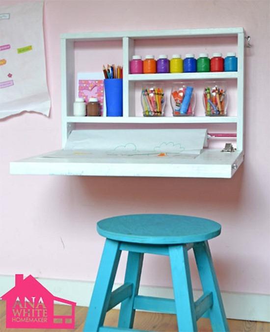 DIY Kids Desk Ideas  12 DIY Ideas for Kids Rooms DIY Home Decor