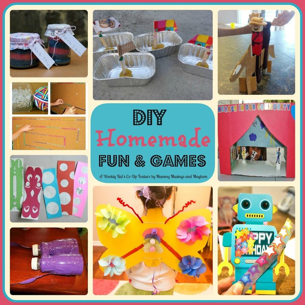 DIY Kids Party Games  Weekly Kid s Co Op DIY Homemade Fun & Games The