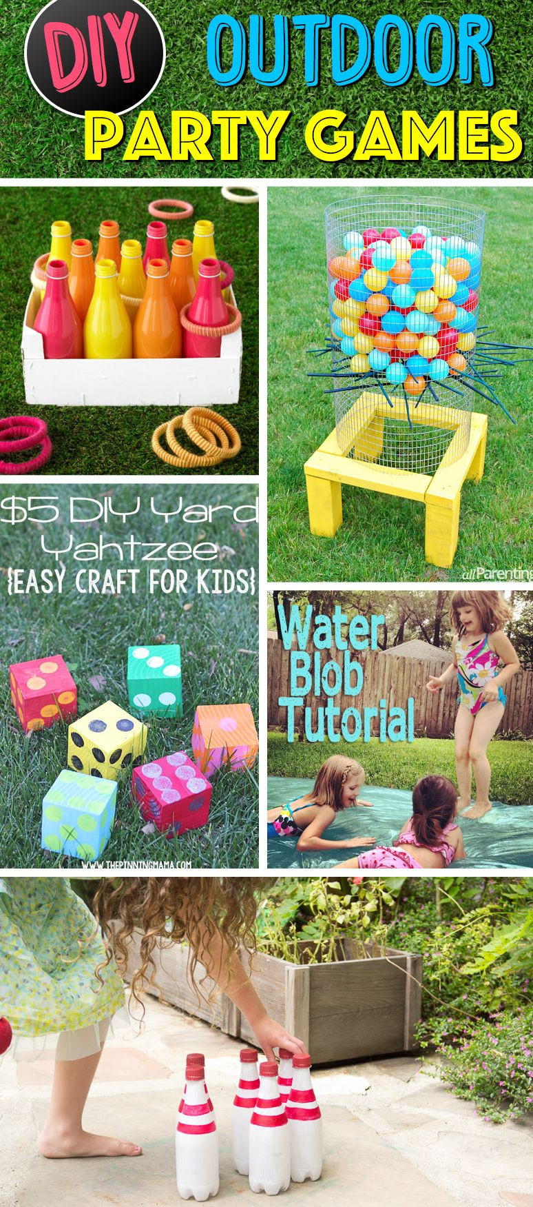 DIY Kids Party Games  38 Easy To Make and Fun Filled Outdoor Party Games For The