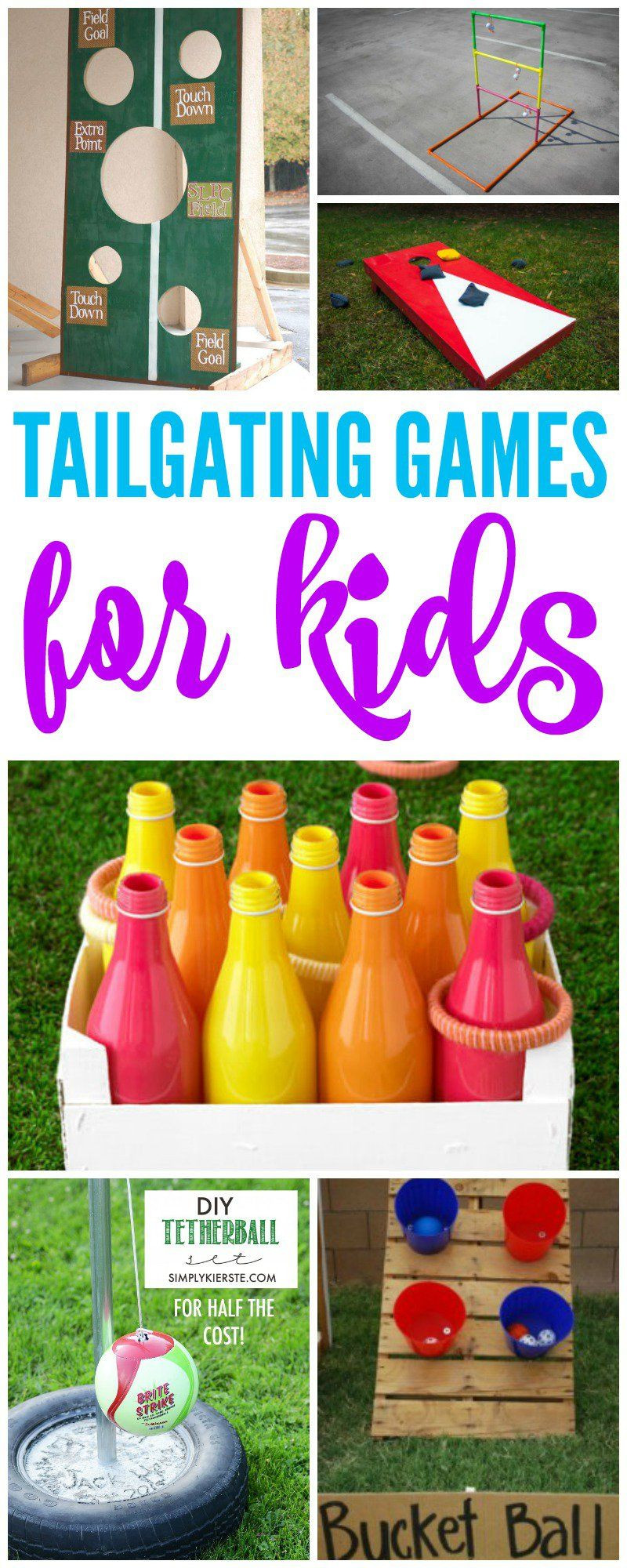 DIY Kids Party Games  Tailgate Games for Kids In the yard before the game