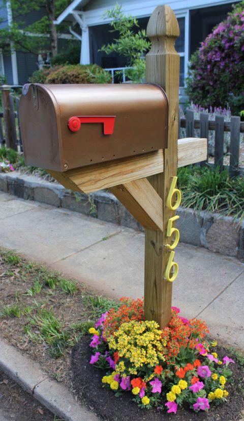 DIY Mailbox Post  8 Easy DIY Mailbox Designs Decorative Mailbox Ideas