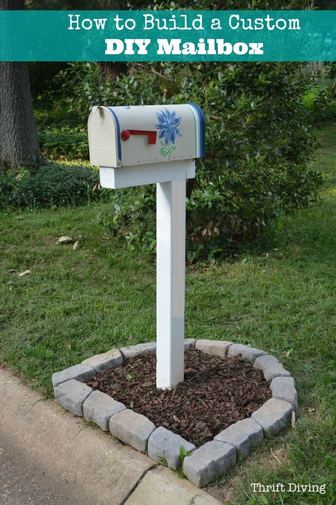 DIY Mailbox Post  How to Build Paint and Install a Custom DIY Mailbox