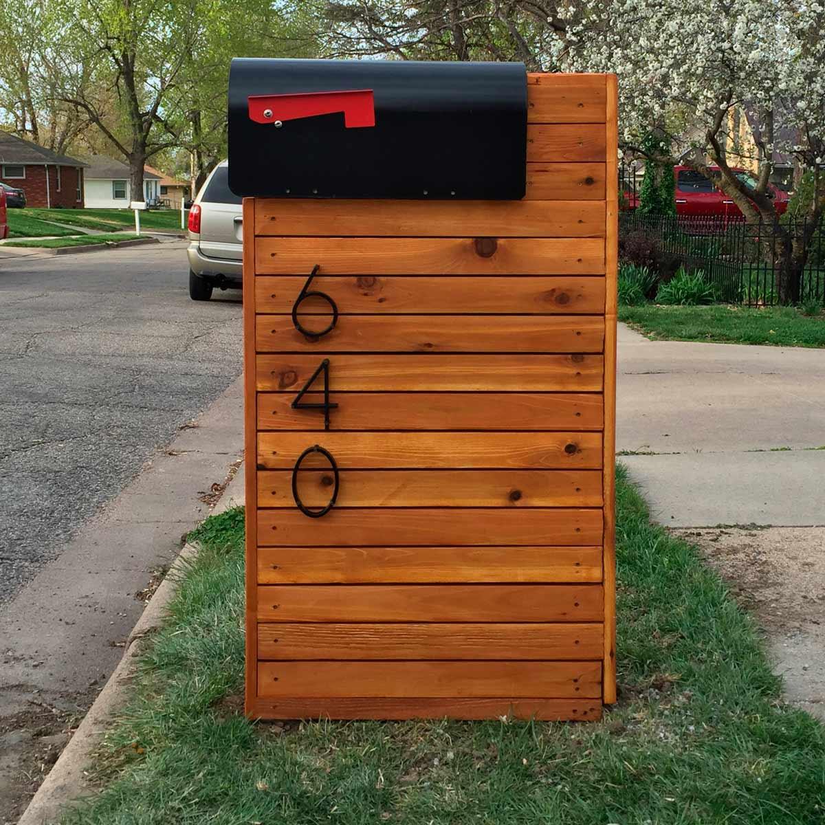 DIY Mailbox Post  Reader Project DIY Solid Cedar Mailbox — The Family Handyman