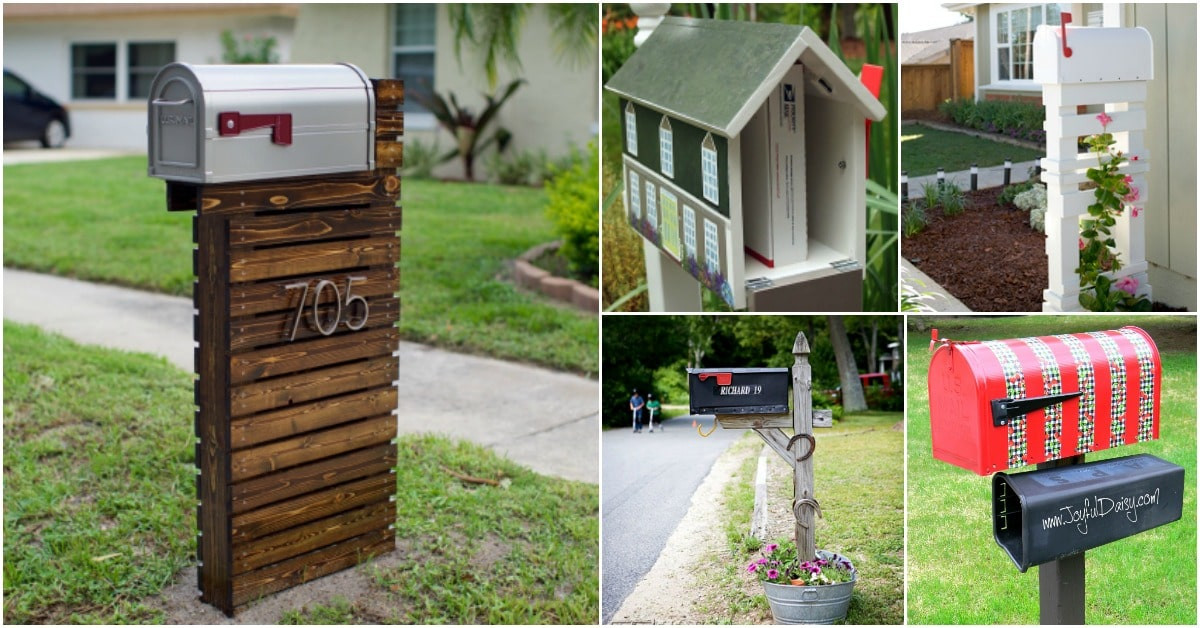 DIY Mailbox Post  15 Amazingly Easy DIY Mailboxes That Will Improve Your