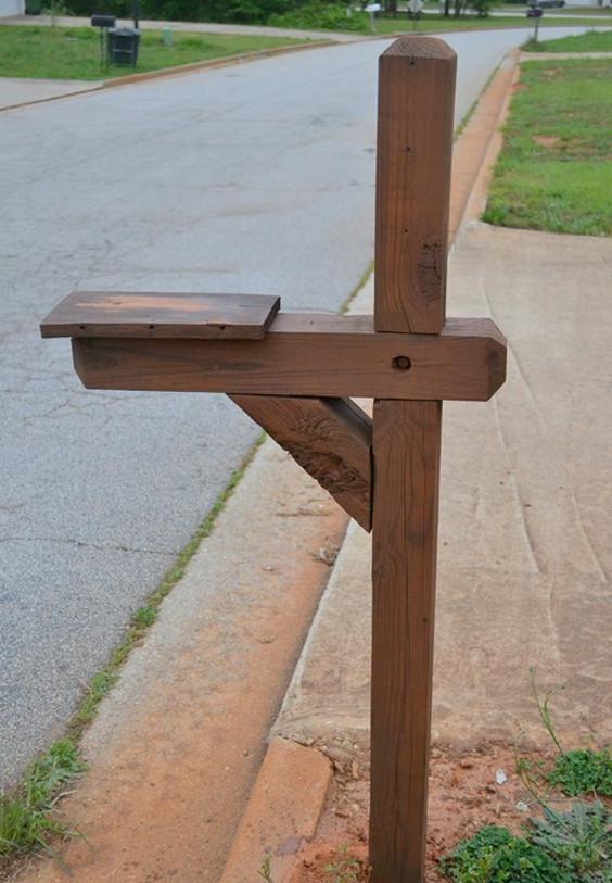 DIY Mailbox Post  How To Make A Mailbox Post
