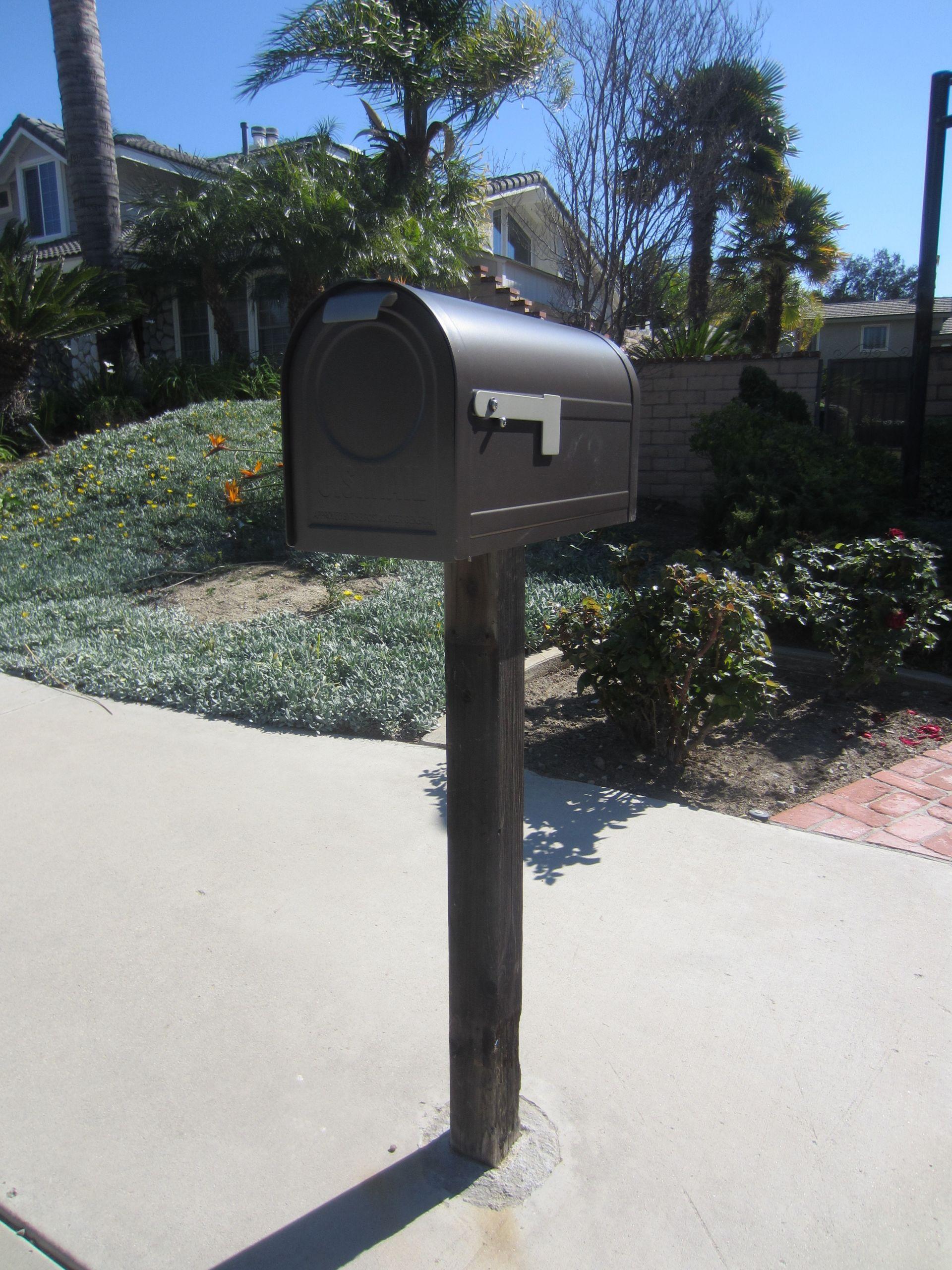 DIY Mailbox Post  Mailbox Ideas DIY Inspired
