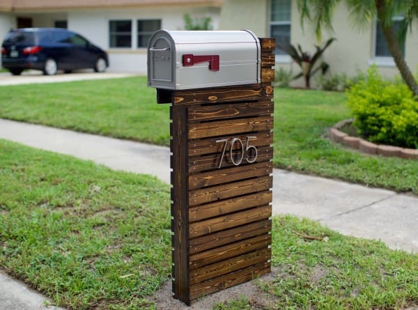 DIY Mailbox Post  They Thought Their Old Mailbox Was Boring They Did THIS