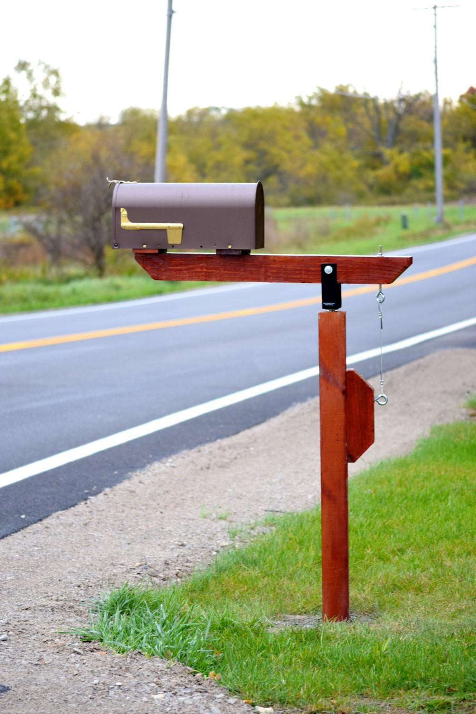 DIY Mailbox Post  DIY Plow Resistant Mailbox Post Hardware Kit Stainless Steel