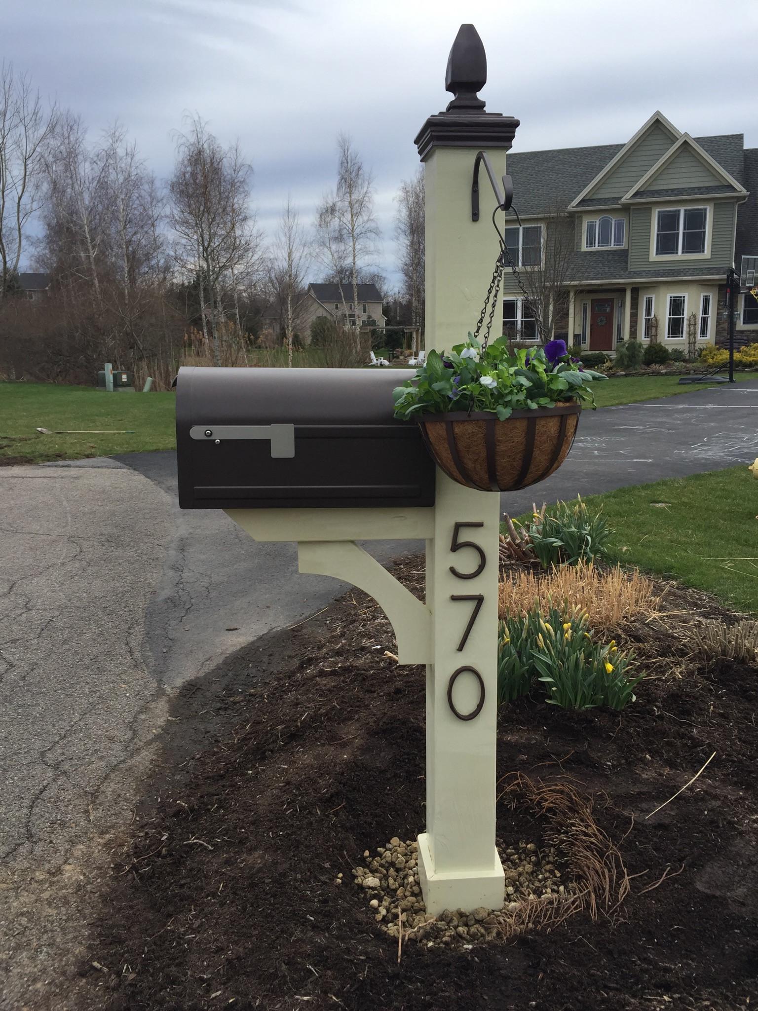 DIY Mailbox Post  Chunky Mailbox Post – Lefty Loosey