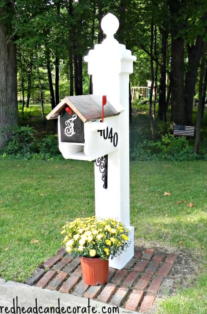 DIY Mailbox Post  You've Got Mail 11 Ways To DIY Your Mailbox