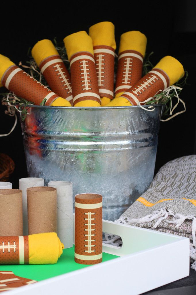 DIY Party Favors For Kids  Box Play for Kids DIY Bucket of Footballs