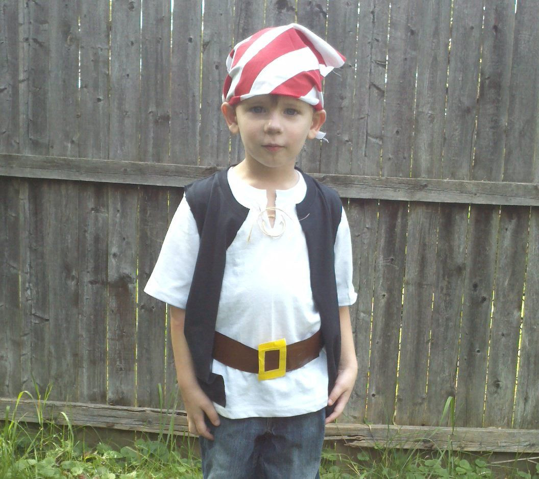 DIY Pirate Costumes For Kids  Quick and easy pirate costumes take kids to Neverland