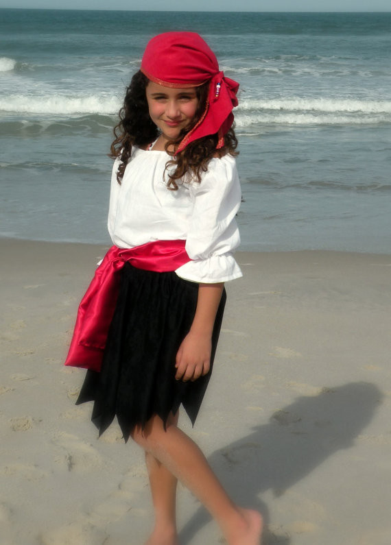 DIY Pirate Costumes For Kids  Child Pirate Pirates Girl Halloween Costume size 6
