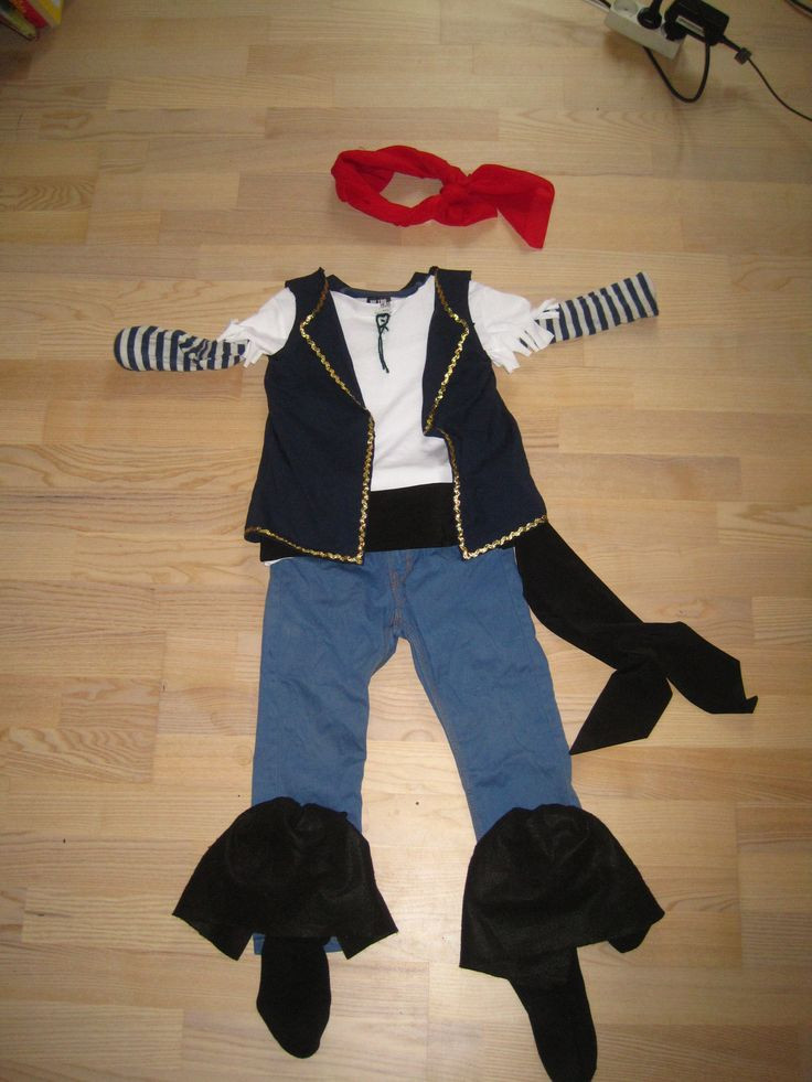 DIY Pirate Costumes For Kids  DIY No sew Jake and the neverland pirates costume for kids