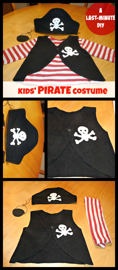 DIY Pirate Costumes For Kids  How to make a PIRATE costume for kids last minute DIY