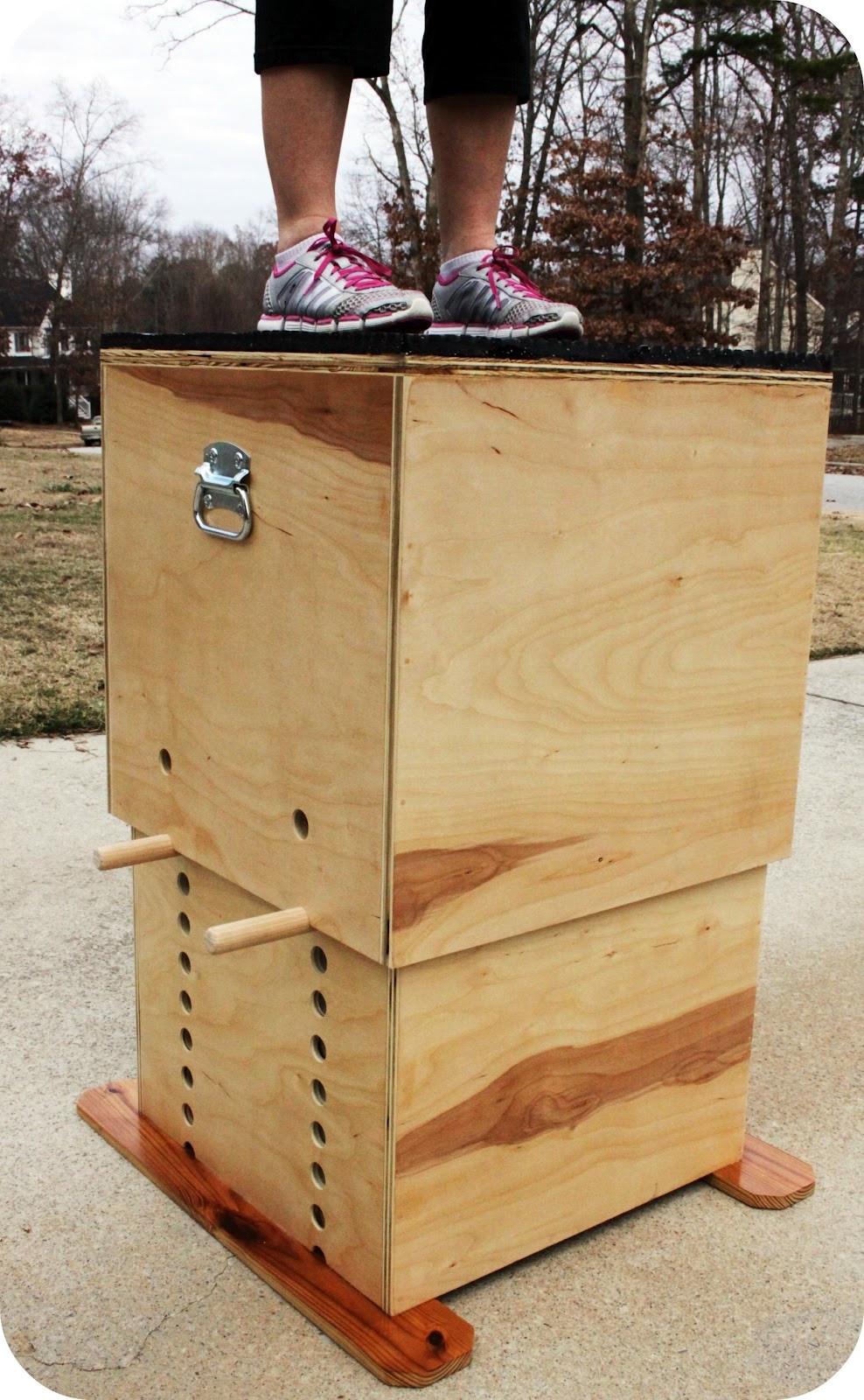 DIY Plyometric Box  TrendyToolbox ADJUSTABLE WOODEN PLYO BOX
