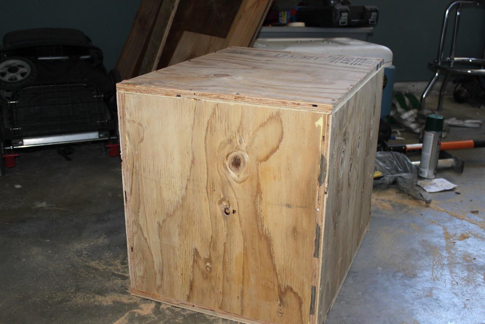 DIY Plyometric Box  Broke Guy s Gym DIY 3 sided Plyo Boxes