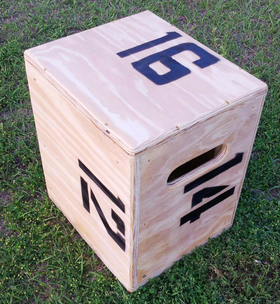 DIY Plyometric Box  Plyo jump Crossfit plyometric box 16 X 14 X 12