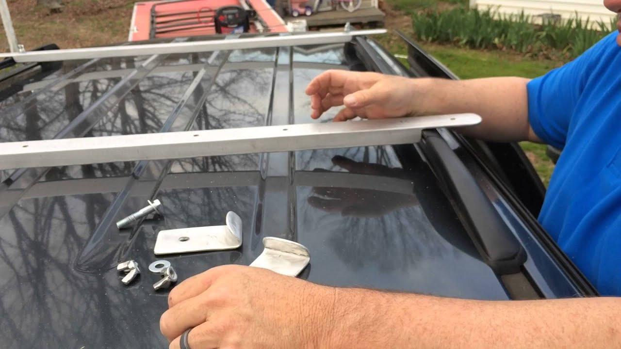 DIY Roof Rack  Roof Rack Cross Rails Homemade DIY
