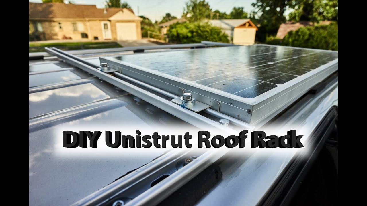 DIY Roof Rack  DIY Roof Rack with Solar Panel Honda Odyssey