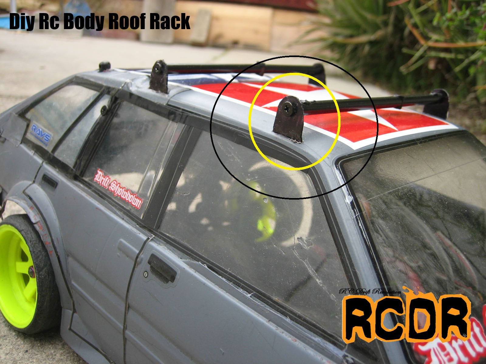 DIY Roof Rack  Rc Drift Revolution Project Diy Rc Body Roof Rack