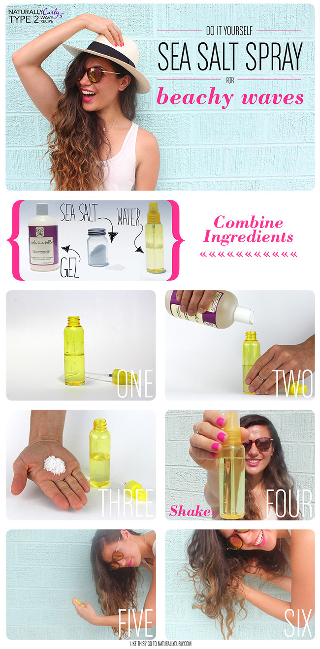 DIY Sea Salt Spray For Hair  DIY Sea Salt Spray Video