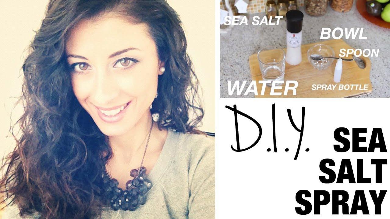 DIY Sea Salt Spray For Hair  DIY Sea Salt Spray for Beautiful Curls