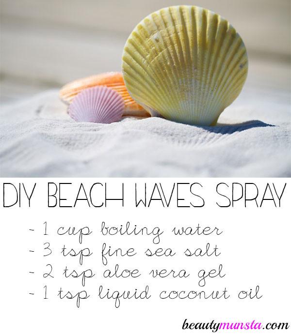 DIY Sea Salt Spray For Hair  DIY Sea Salt Spray for Curly Hair beautymunsta