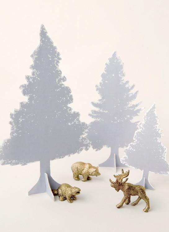 DIY Tabletop Christmas Tree  How to Make Easy DIY Tabletop Christmas Trees Curbly