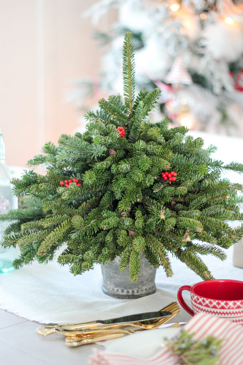 DIY Tabletop Christmas Tree  14 DIY Tabletop Christmas Trees That Excite Shelterness