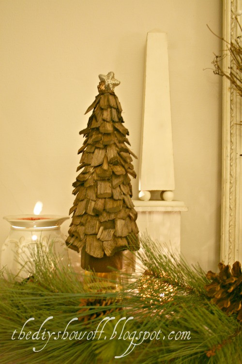 DIY Tabletop Christmas Tree  5 DIY Wooden Tabletop Christmas Trees Shelterness