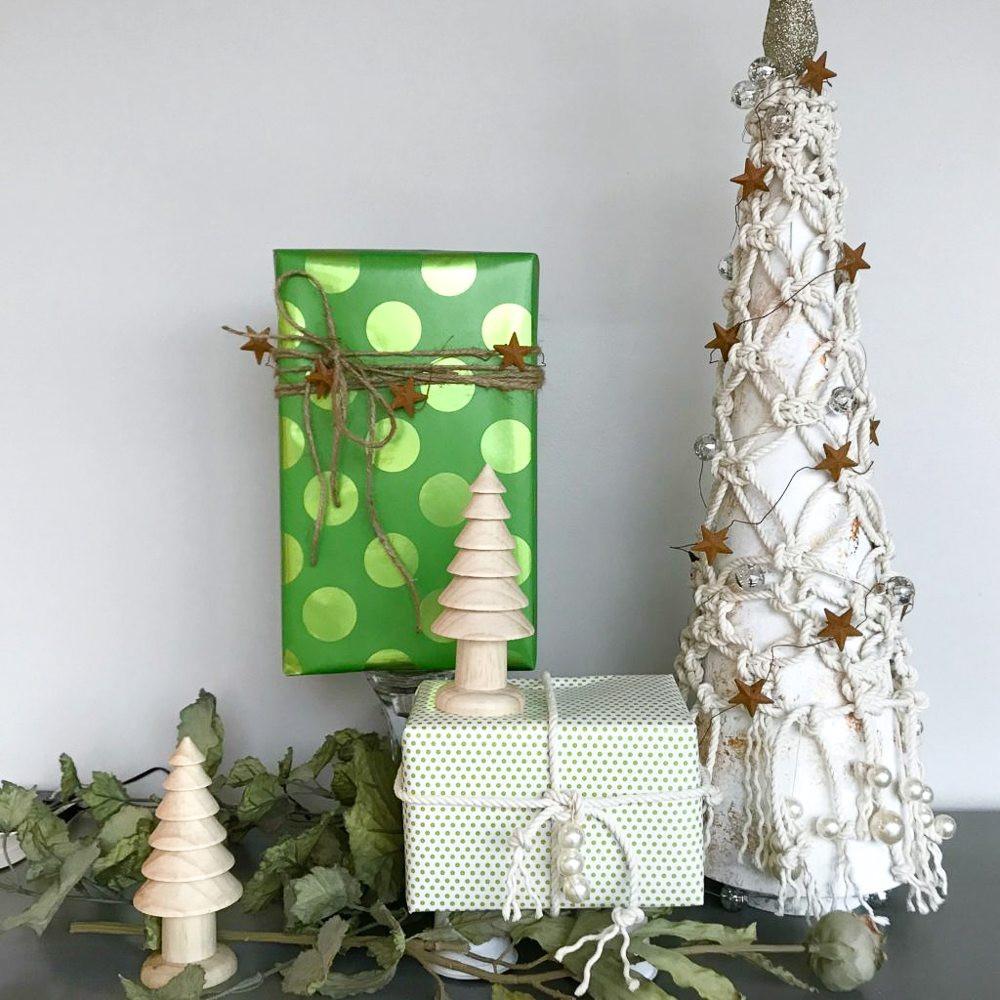 DIY Tabletop Christmas Tree  MACRAME TABLETOP CHRISTMAS TREE TINSELBOX