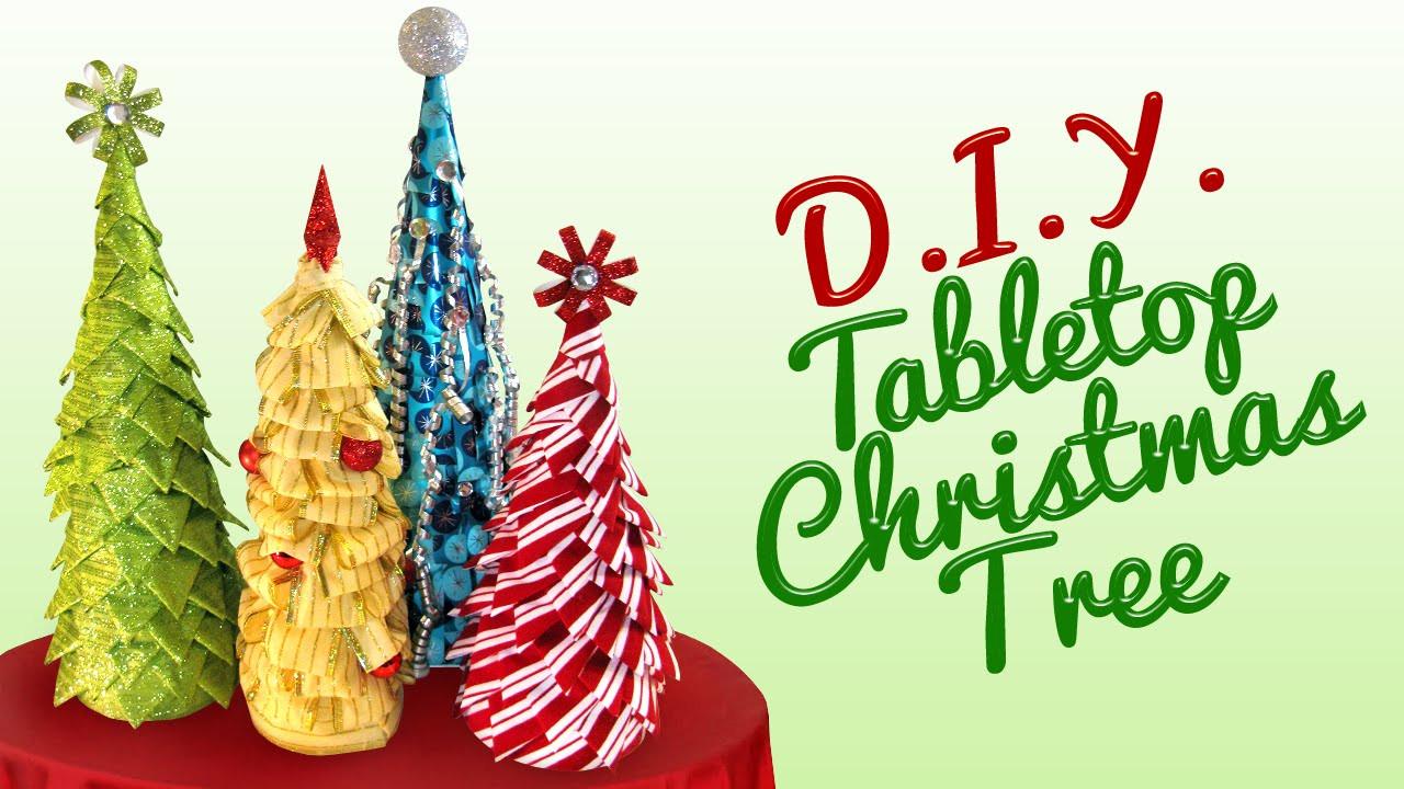 DIY Tabletop Christmas Tree  DIY Tabletop Christmas Tree