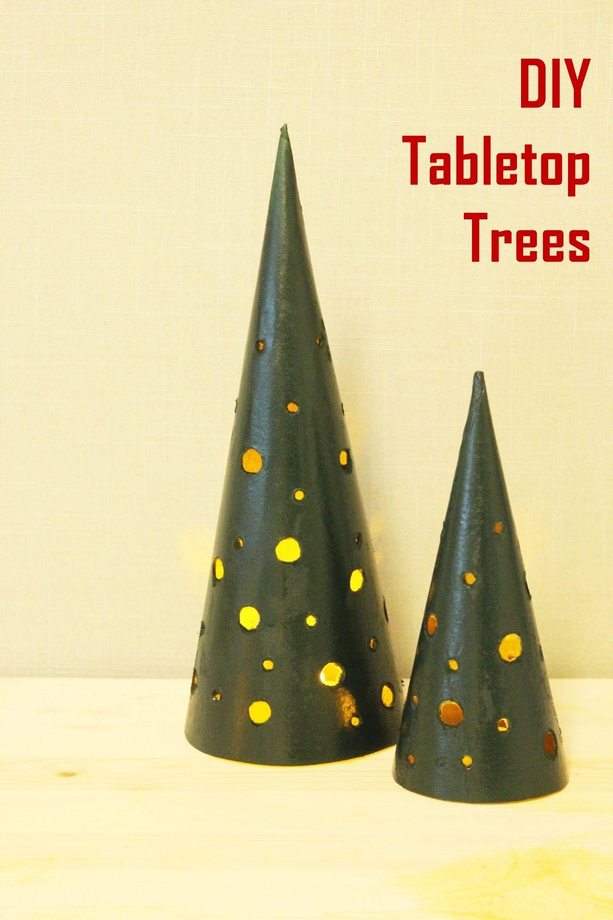 DIY Tabletop Christmas Tree  DIY Modern Tabletop Christmas Trees