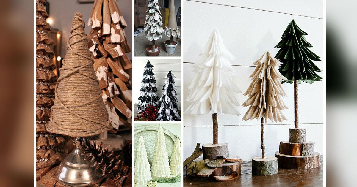 DIY Tabletop Christmas Tree  DIY Tabletop Christmas Trees For 5 Easy And Bud