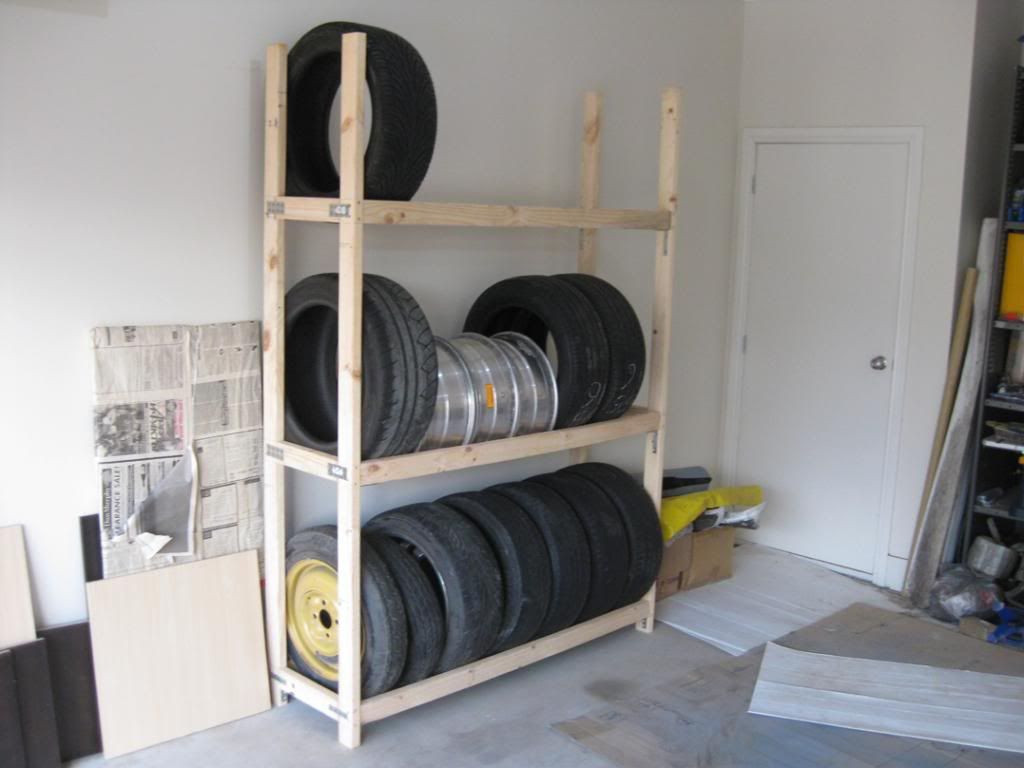 DIY Tire Storage Rack  homemade tire rack For the Home in 2019