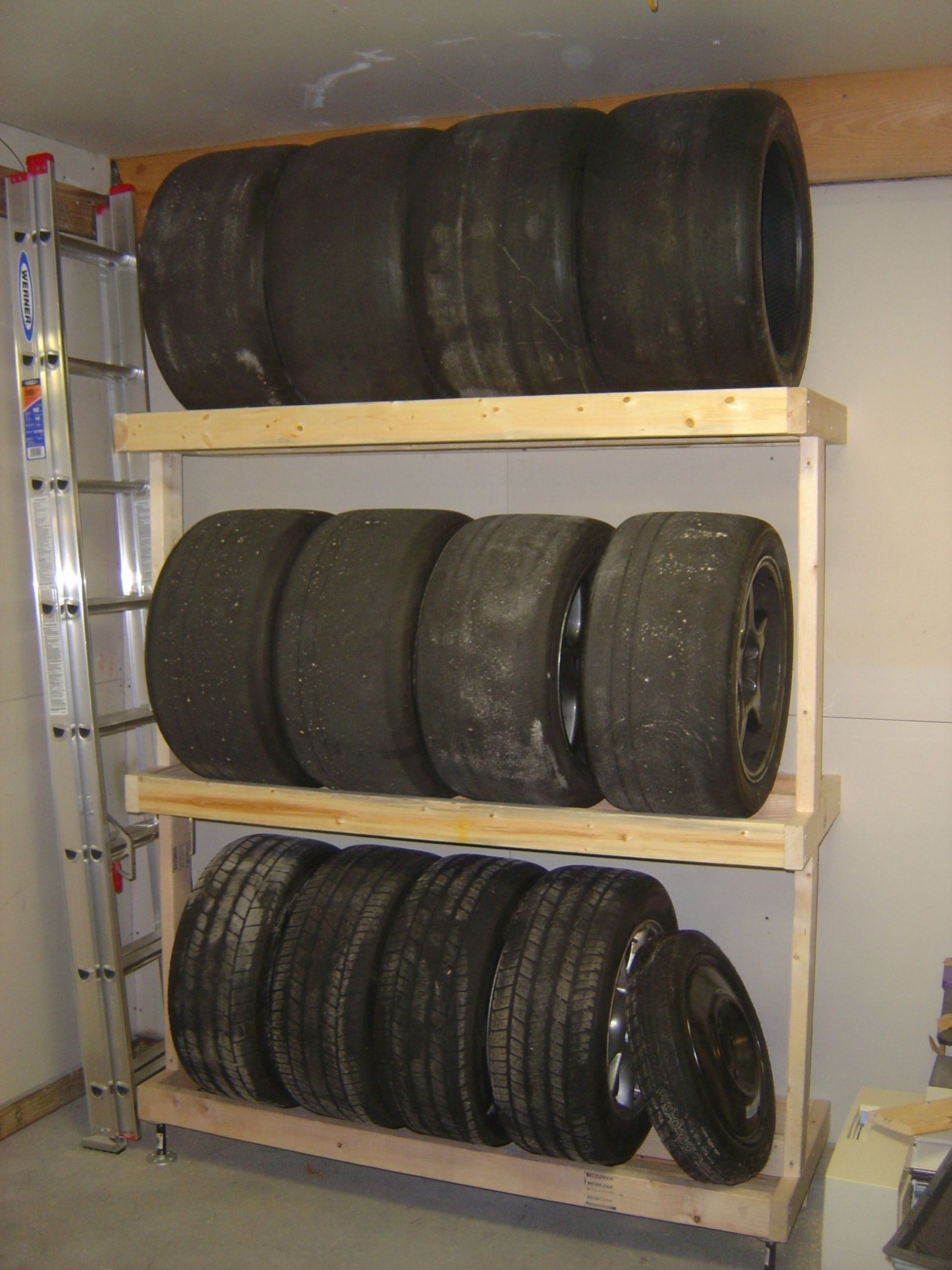 DIY Tire Storage Rack  How to Build a Tire Rack 6 Steps with