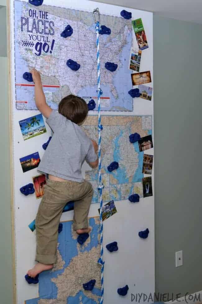DIY Toddler Climbing Wall  How to Build an Indoor Rock Climbing Wall DIY Danielle