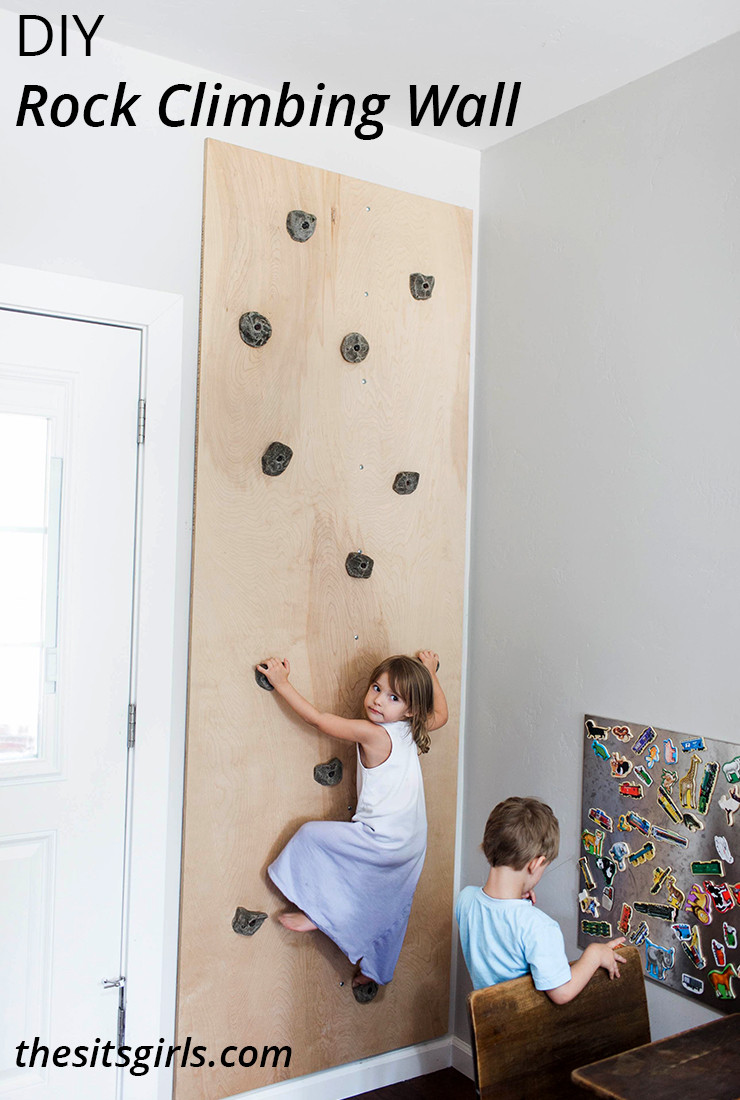 DIY Toddler Climbing Wall  DIY Rock Climbing Wall Playroom Idea