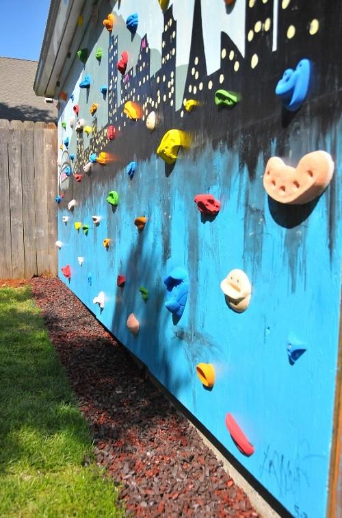 DIY Toddler Climbing Wall  DIY Backyard Climbing Wall