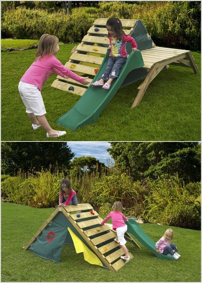 DIY Toddler Climbing Wall  15 Fun Projects to Make from Recycled Pallets With images