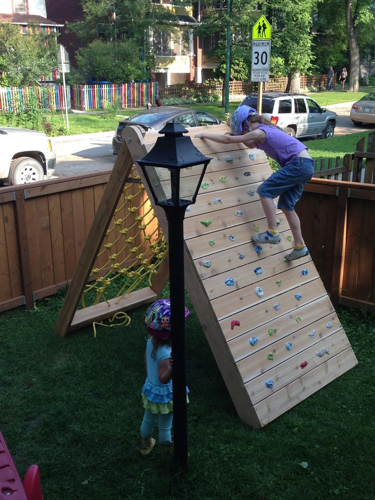 DIY Toddler Climbing Wall  Backyard Climbing Wall for the Kids Knock fDecor