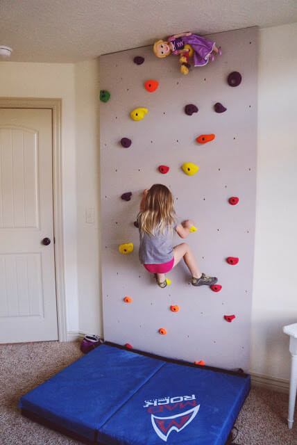 DIY Toddler Climbing Wall  Playroom Ideas to Keep your Home from Looking like a Toy