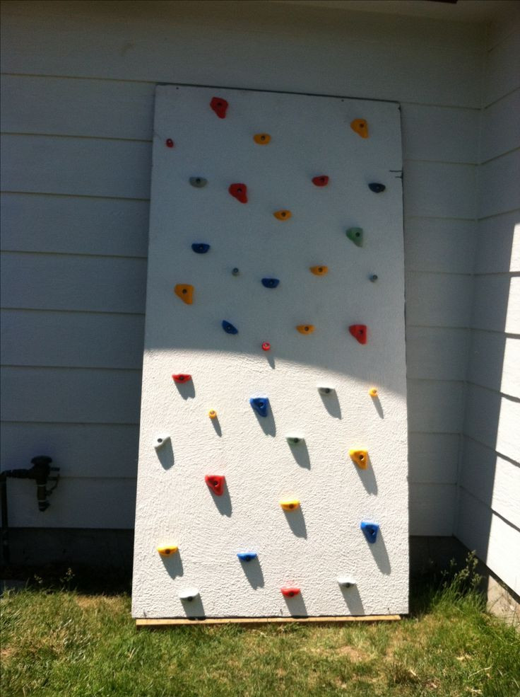 DIY Toddler Climbing Wall  67 best images about Climbing frames etc on Pinterest