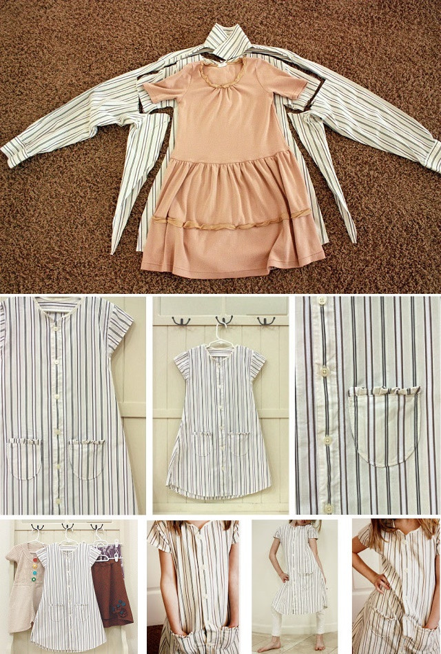 DIY Toddler Clothes  Baby Girl Dress Upcycled from Men s Shirt DIY AllDayChic