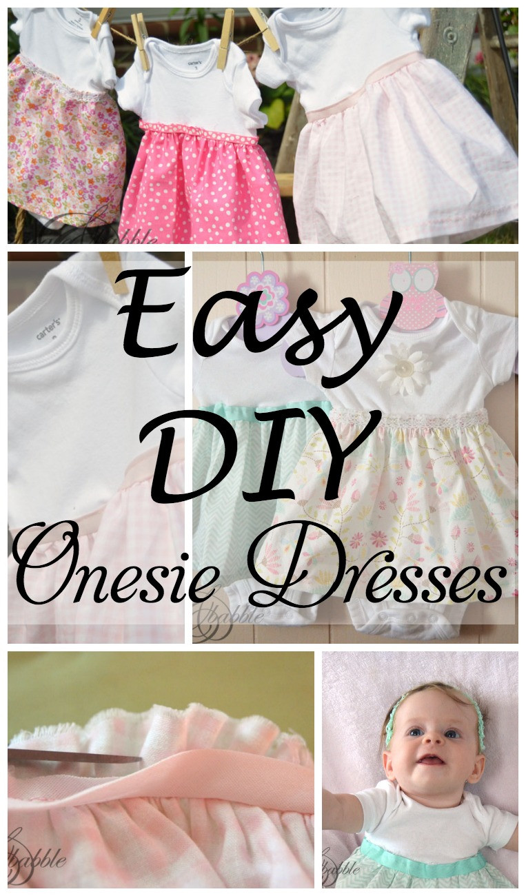 DIY Toddler Clothes  DIY esie Dresses Create and Babble