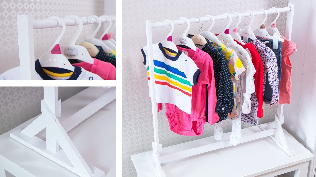 DIY Toddler Clothes  Make an AWESOME Baby Clothes Rack Easy DIY Organization